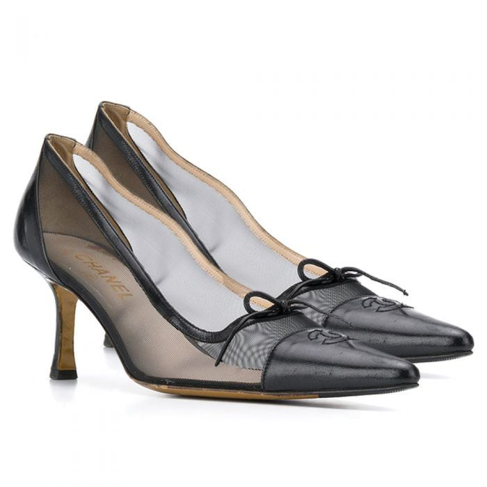 Chanel Sheer Pointed Pumps