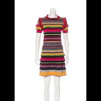 Gucci stripped print knit midi dress Angle2