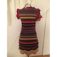 Gucci stripped print knit midi dress Angle4