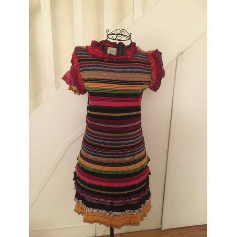Gucci stripped print knit midi dress