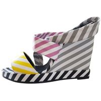 Pierre Hardy wedge multicolored sandals