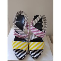 Pierre Hardy wedge multicolored sandals Angle4