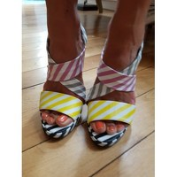 Pierre Hardy wedge multicolored sandals Angle8