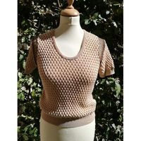 Carven crochet top with intricate shoulder design
