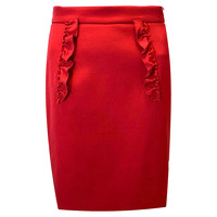 Miu Miu Ruffled dart Red above knee  Skirt