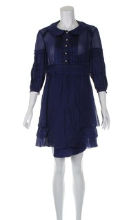 Temperley London Blue Knee Length Dress