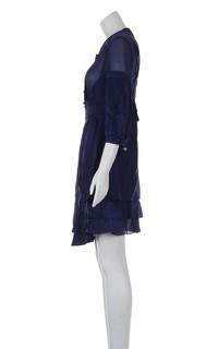 Temperley London Blue Knee Length Dress Angle2