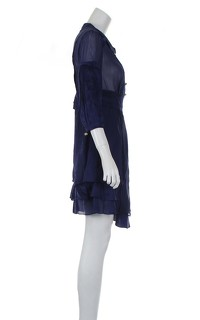 Temperley London Blue Knee Length Dress Angle4