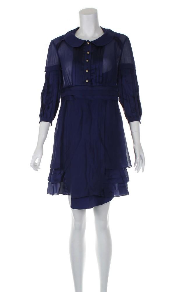 Temperley London Blue Knee Length Dress