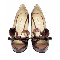 Valentino Sandals Leather With Large Brown Bow Angle2