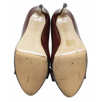 Valentino Sandals Leather With Large Brown Bow Angle3