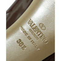 Valentino Sandals Leather With Large Brown Bow Angle4