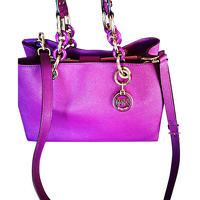 Michael Kors Hand Textured Leather Handbag