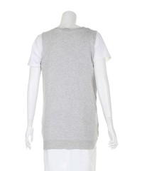 Miu Miu Grey Sleeveless lightweight Cardiga Angle3