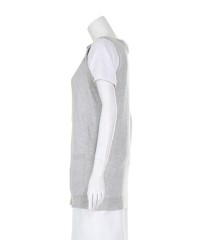 Miu Miu Grey Sleeveless lightweight Cardiga Angle2