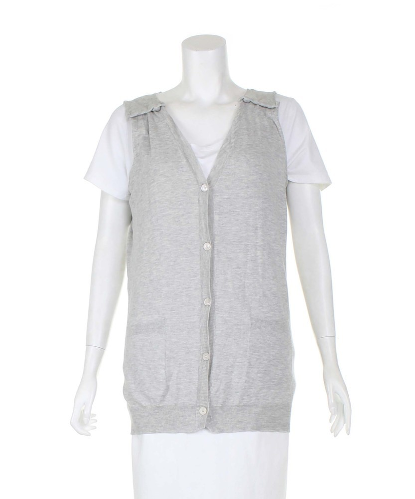 Miu Miu Grey Sleeveless lightweight Cardiga