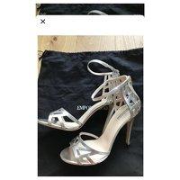 Giorgio Armani, Silver Sandals Angle2
