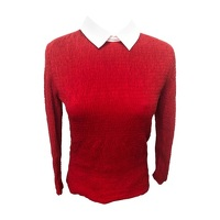 CARVEN Red Cotton Top/T-Shirt