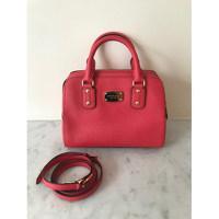 MICHAEL KORS Orange Red Leather Handbag