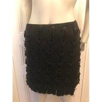 Tory Burch Black Minimalist Chic Mini Skirt