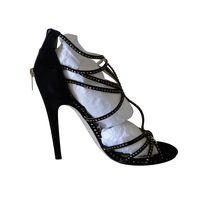 Jimmy Choo Shimmering Bronze Heeled Sandals