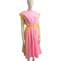 VIONNET Pink Midi Dress With Stripes