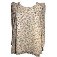Claudie Pierlot Top With Bouffant Sleeves and Knot