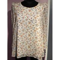 Claudie Pierlot Top With Bouffant Sleeves and Knot Angle2