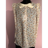 Claudie Pierlot Top With Bouffant Sleeves and Knot Angle3