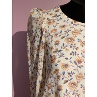 Claudie Pierlot Top With Bouffant Sleeves and Knot Angle4