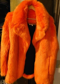 Diane Von Furstenberg Faux Fur Coat Angle2
