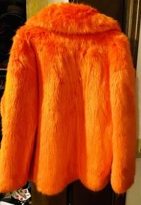 Diane Von Furstenberg Faux Fur Coat Angle3