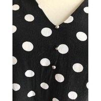 Claudie Pierlot Black And White Dots Blouse Angle3