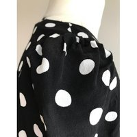 Claudie Pierlot Black And White Dots Blouse Angle5