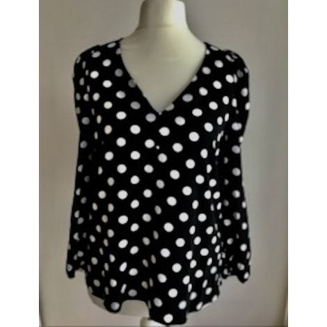 Claudie Pierlot Black And White Dots Blouse