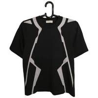 Balenciaga Black Cotton Geometric T-shirt Angle1