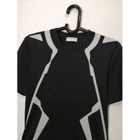 Balenciaga Black Cotton Geometric T-shirt Angle4