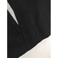 Balenciaga Black Cotton Geometric T-shirt Angle7