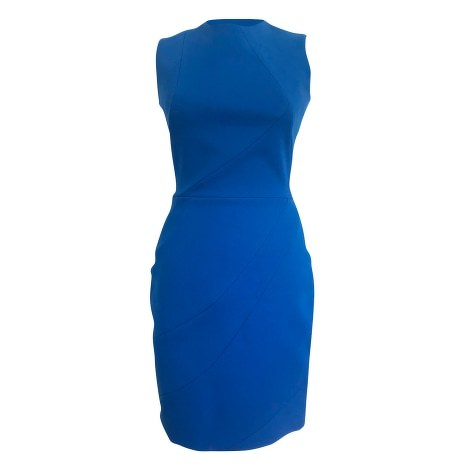 Victoria Beckham Wool Fitted Midi Dress