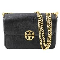 Tory Burch Leather Shoulder Bag With Flap Closure