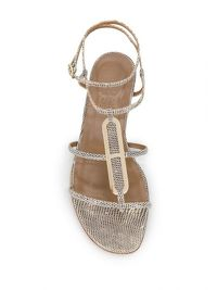 Hermes Ombre Lizard Sandals Angle4