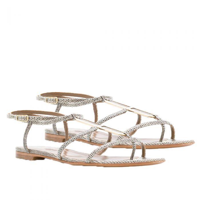 Hermes Ombre Lizard Sandals