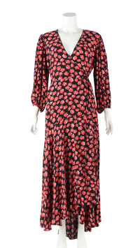 Ganni Viscose Floral Lindale Causal Dress   Angle2