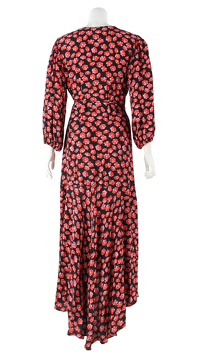 Ganni Viscose Floral Lindale Causal Dress   Angle4