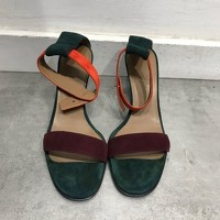 Hermès Strappy Heeled Sandals Angle4