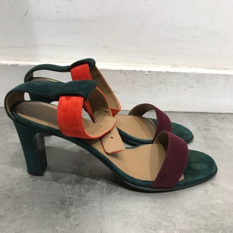 Hermès Strappy Heeled Sandals