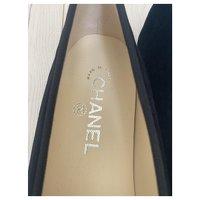 Chanel Black Ballet Flats Angle4