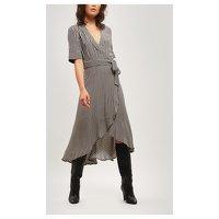 Gingham Wrap Dress of Ganni. Angle2