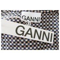 Gingham Wrap Dress of Ganni. Angle5