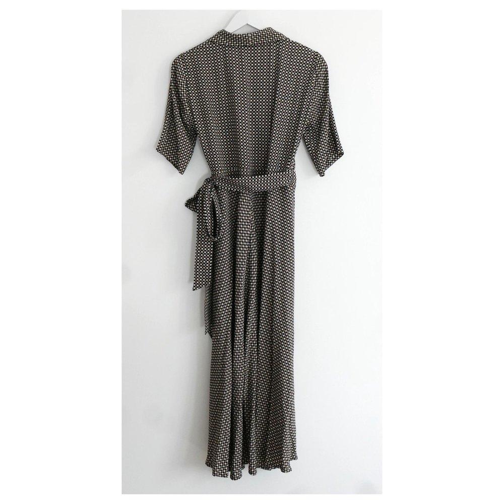 Gingham Wrap Dress of Ganni.